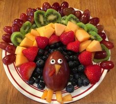 Fruit Turkey Platter for Thanksgiving - Crafty Morning