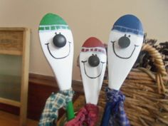 country snowman spoons by designsbyBobbiejo on Etsy, $8.00