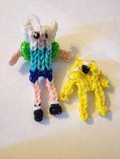 Finn and Jake Rainbow Loom Charms