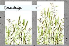 Green grass set by katya.bogina on @creativemarket