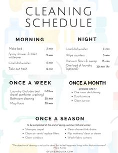 Cleaning schedule for working moms. Cleaning hacks to save time. Cleaning hacks everyone should know. House Cleaning Checklist, Clean House Schedule, Household Cleaning Tips, Diy Cleaning Products, Cleaning Hacks, Apartment Cleaning Schedule, Daily Routine Schedule, New House Checklist, Spring Cleaning Tips