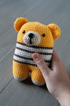 Hey, I found this really awesome Etsy listing at https://www.etsy.com/listing/213962595/donato-bear-amigurumi-baby-rattle