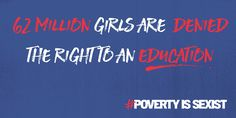 Those hit hardest by gender inequality are being ignored. THIS is why I stand with girls and women everywhere. ADD your name today. Join 208,085 others who have come together to send a powerful message: we won't end extreme poverty without ending global gender inequality.