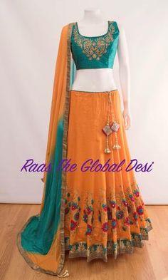 CHANIYACHOLI2018 Indian Fashion Dresses, Indian Gowns Dresses, Dress Indian Style, Indian Designer Outfits, Indian Outfits, Ethnic Outfits, Indian Clothes, Indian Wear, Skirt Fashion