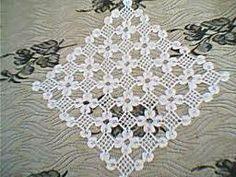 dantel Crochet Doily Diagram, Crochet Squares, Crochet Motif, Crochet Doilies, Crochet Flowers, Crochet Patterns, Beginner Knitting Patterns, Knitting For Beginners, Crochet Tablecloth