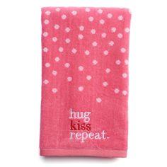Celebrate Valentine's Day Hugs & Kisses Hand Towel