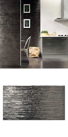 Metallic silver tiles, with a textured linear surface that reflects the light and creates a bright and contemporary look in your home. Ceramic for walls Metallic Wall Tiles, White Wall Tiles, Wall And Floor Tiles, Porcelain Tile Cleaner, Wall Tile Adhesive, Tiles Price, Kitchen Walls, Tile Grout, Splashback