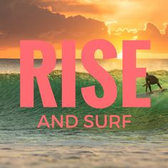 The early bird gets the swell!