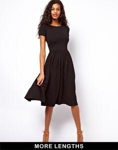 Изображение 1 из Платье миди с короткими рукавами ASOS