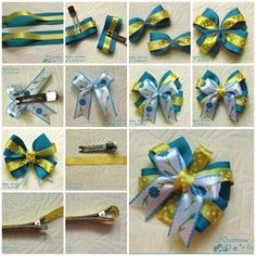 How to DIY Satin Ribbon Bow Hair Clip » Cool Creativity