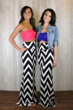 11. #Chevron Print - 13 #Sweet DIY Maxi Skirts to Sew ... → #Lifestyle [ more at http://lifestyle.allwomenstalk.com ]  #Moss #Ella #Projects #Striped #Sewing