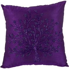 A&B Home Purple Beadwork Tree Throw Pillow ($20) ❤ liked on Polyvore featuring home, home decor, throw pillows, purple accent pillows, knit throw pillow, purple toss pillows, purple throw pillows and purple home decor