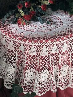 Crochet for the Home - Crochet Tablecloth & Table Runner Patterns - Enchanted Forest Tablecloth