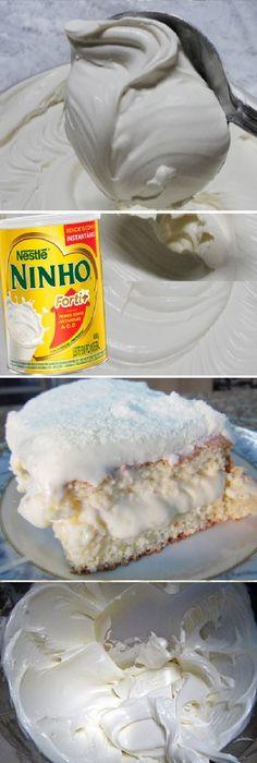 Cobertura de LECHE en POLVO para TARTAS, sirve para cubrir cualquier tipo de masa de pastel y lo mejor de todo es que tiene la consistencia PERFECTA! #cobertura #relleno #cubierta #leche #polvo #masa #perfecta #cakes #filling #crema #relleno #losmejores #cremas #rellenos #cakes #pan #panfrances #panettone #panes #pantone #pan #recetas #recipe #casero #torta #tartas #pastel #nestlecocina #bizcocho #bizcochuelo #tasty #cocina #chocolate Si te gusta dinos HOLA y dale a Me Gusta MIREN...