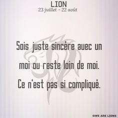 #lion #astro #Astrologie #zodiaque #citation #amour #Lion #Astrologie #verité Citation Lion, Citation Harry Potter, Signe Astro Lion, Drago Malfoy, Signs, Psychology, Leo, Zodiac, Messages