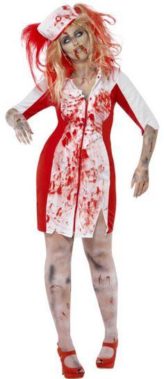 Plus size fancy dress 60s zombie