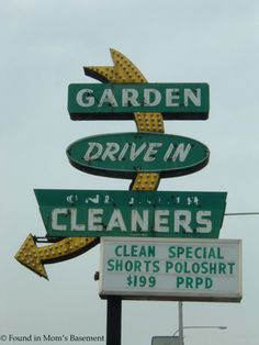 Vintage roadside sign: Garden Drive In Cleaners, Evergreen Park, IL