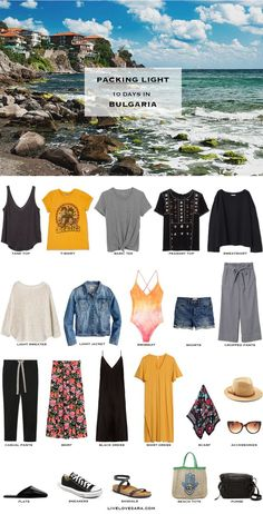If you are wondering what to pack for a Bulgaria beach vacation for 10 days, you can see some ideas here. What to Pack for Bulgaria Packing Light List | What to pack for the Black Sea l | What to Pack for summer | Packing Light | Packing List | Travel Light | Travel Wardrobe | Travel Capsule | Capsule |