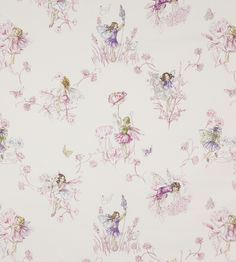 Meadow Flower Fairies Fabric by Jane Churchill | Jane Clayton