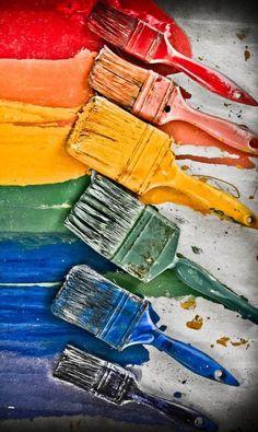 A Rainbow of Color Rainbow Painting, Rainbow Art, Rainbow Colors, Rainbow Rocks, True Colors, All The Colors, Vibrant Colors, World Of Color, Color Of Life