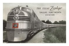 Texas Zephyr, Streamlined Train Premium Poster