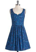As Days Go Binary Dress | Mod Retro Vintage Dresses | ModCloth.com