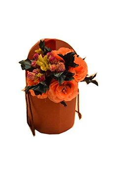 [ANMALIP HANDMADE] Bouquet of natural immortal flowers and flowers made and hand-painted from silk(orange) Marine Colors, Living Off The Land, Tea Packaging, Chocolate Packaging, Chocolate Gifts, Coconut Water, Silk Flowers, Mother Nature, Green And Grey