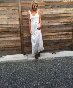 Colorado Style, beautiful dress with boots.  Love this look.  Destination wedding?  Garden Party? brooksltd.net