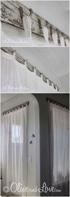 TOP 10 Decorative DIY Curtain Rods Design Ideas