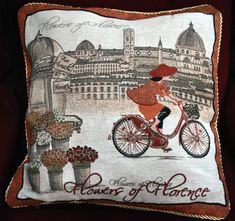 """Tache 1 Piece 18"""" By 18"""" Square Vintage French Girl Day Out Decorative Cushion Throw Accent Pillow Cover"""
