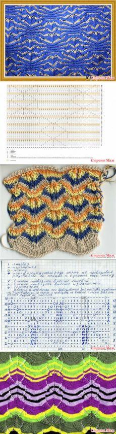 Amazing geometric waves knitting pattern