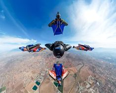 Five JEB & Co. keeping it tight as. Wingsuit Flying, Skydiving, Extreme Sports, Gopro, Squirrel, Singapore, Squad, Athlete, Base