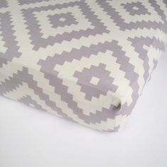 Neutral Baby Bedding  Grey Changing Pad Cover or Crib by Babiease