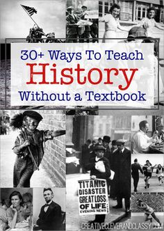 Ways to Teach History Without a Textbook History should never be boring! Teach hands-on history with these ideas. Here are ways to teach history without a textbook.History should never be boring! Teach hands-on history with these ideas. 6th Grade Social Studies, Social Studies Classroom, Social Studies Activities, History Activities, Teaching Social Studies, Social Studies Projects 5th, 8th Grade History, Middle School History, Study History