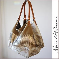Glitter tote by Muse de Provence. Hand made in France.