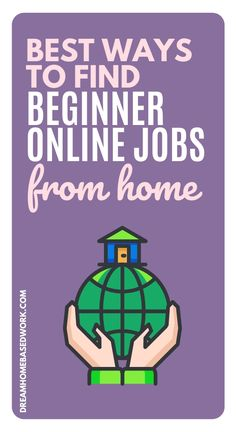 Want to work from home but don't have much experience? If you're looking to earn a full-time income working from home, you may need to have special skills and credentials to earn big money. You don't have to have a fancy degree or years of work experience to earn an honest living online. Here are some of the best online jobs for beginners to try! #workathome #jobs Best Online Jobs, Online Jobs From Home, Work From Home Companies, Work From Home Tips, Earn Money Online Fast, Earn Money From Home, Home Based Work, Customer Service Jobs, Typing Jobs