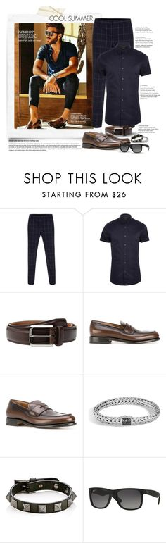 """Cool Summer 3"" by gracekathryn ❤ liked on Polyvore featuring Paul Smith, River Island, Trafalgar, Salvatore Ferragamo, John Hardy, Valentino, Ray-Ban, men's fashion, menswear and Summer"
