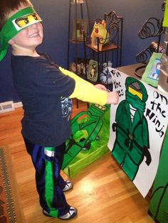 Ninjago birthday party idea, pin the eyes on the ninja