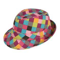 ed23666339b COMVIP Classic Colorful Plaid Stripes Fedora Sun Hat Child Panama Jazz Hat  Preteen Girls Fashion