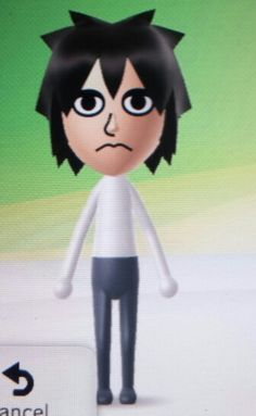 Tried to make L from Death Note on my Wii U.
