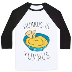 Show off your love of delicious snack foods with this adorably cute and maybe a little weird, junk food, hummus lover's shirt! Now grab some pita bread and veggies and get your hummus on!
