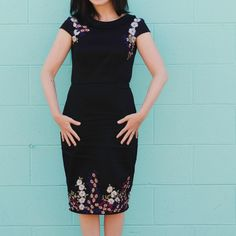 Tilly And The Buttons Etta Dress embroidery