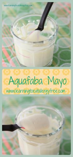 Make this delicious dairy-free, egg-free, vegan mayonniase at home using the liquid from a can of beans. Posted at Learning to Eat Allergy-Free