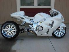 Custom White Suzuki Hayabusa Futuristic Motorcycle, Suzuki Motorcycle, Yamaha Motorcycles, Custom Motorcycles, Custom Street Bikes, Custom Sport Bikes, Suzuki Hayabusa, Drag Bike, Custom Hayabusa