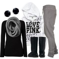love pink in grey
