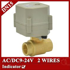 27.78$  Buy now - http://alijia.shopchina.info/go.php?t=763496067 - 1/2'' Motorized Actuator Ball Valve, DN15 AC/DC9-24V 2 way Brass electric valve with Indicator and Normal Open/Closed  function  #aliexpressideas