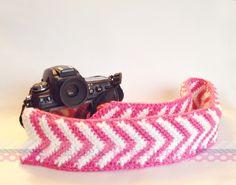 MY CROCHET - CORIE'S CREATIONS    Chevron - Crochet - Camera strap cover. $25.00, via Etsy. Chevron Crochet, Knit Crochet, Crochet Camera, Camera Strap Cover, Crochet Handbags, Camera Accessories, Crochet Accessories, Creations, Crafty