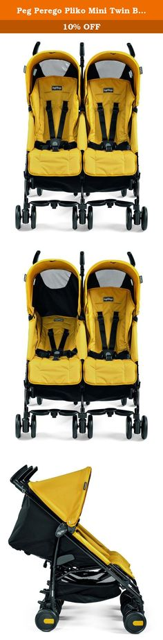 Peg Perego Pliko Mini Twin Baby Stroller, Mod Yelow. The lightweight and compact double stroller with optimal agility for two. The Pliko Mini Twin maneuvers with ease and can be pushed with just one hand. The Pliko Mini Twin is the perfect stroller for an on the go lifestyle. Two children travel in comfort, while parent pushes with ease with this all new twist on the classic Pliko Minim. Along with being a lightweight double option (weighing in at just 24 pounds), the Pliko Mini Twin has…