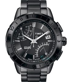 TIMEX IQ All Black Stainless Steel Chrono