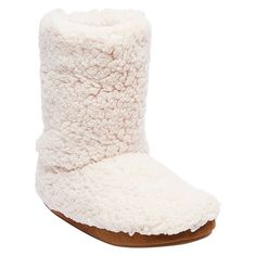 Women's Mad Love Mellie Sherpa Bootie Slippers - White